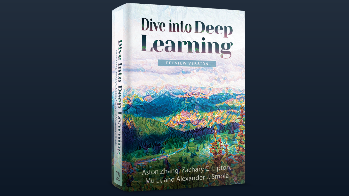 'Dive into Deep Learning' book cover