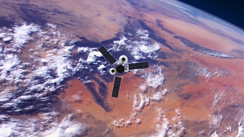 Spy Satellite orbiting Earth. NASA Public Domain Imagery