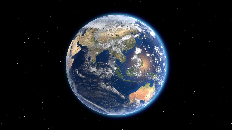 Earth image smaller