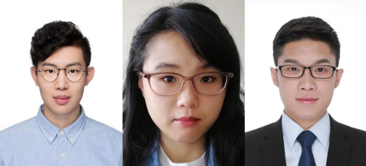 Left to right, Xiaotong Guo, Qingyi Wang, and Baichuan Mo.