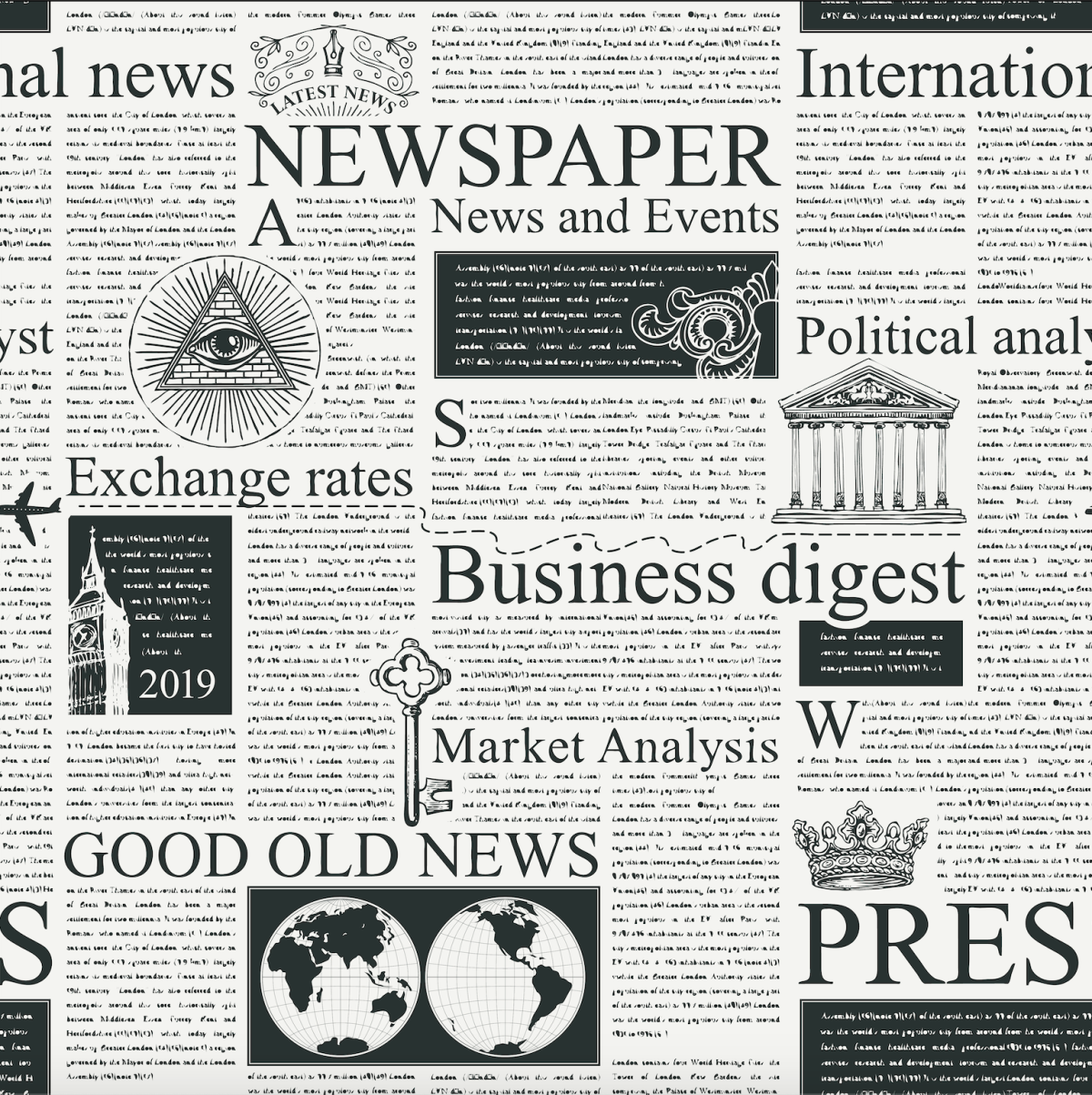 seamless pattern on the theme of Newspapers.png