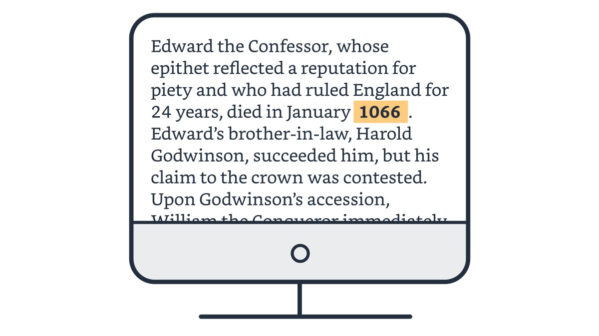 Historical documentation on a computer screen with the date highlighted